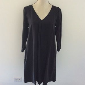 Michael Stars black trapeze dress with pockets
